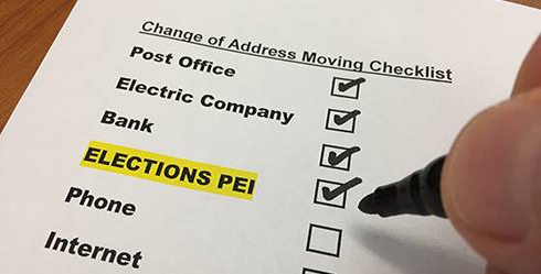 Keep your information updated with Elections PEI
