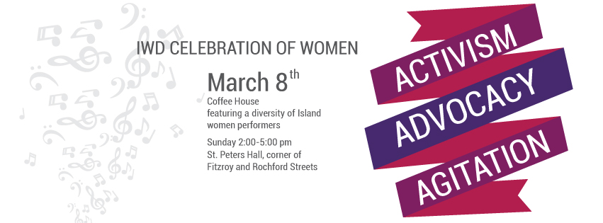 International Women's Day Coffee House Banner