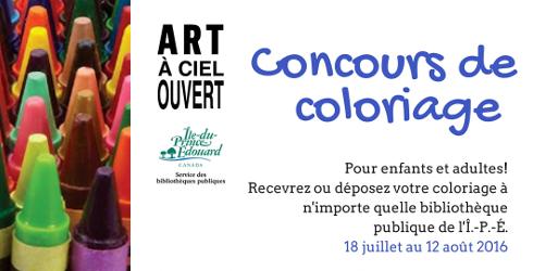 Art � ciel ouvert - Concours de coloriage