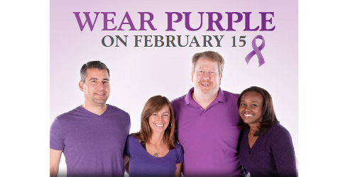Wear Purple on February 15th