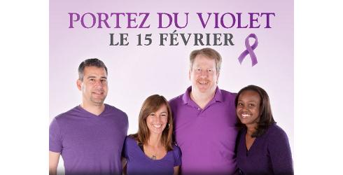 Portez du violet le 15 février