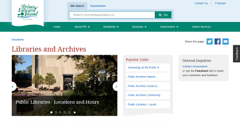 New Website for Libraries & Archives