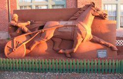 Sculpture d�une course attelée de Sandland