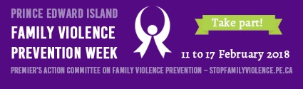 Stop Family Violence PEI button
