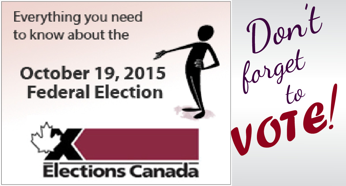 A graphic referring people to Elections Canada for more information about the fall federal election.