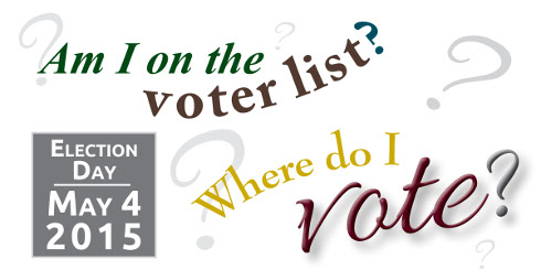 Find out where you vote and whether you''''''''''''''''re on the voter list.