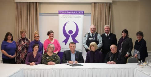 Group image of Premier Dennis King and members of Premier's Action Committee